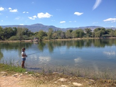 Photo of Student Fishing